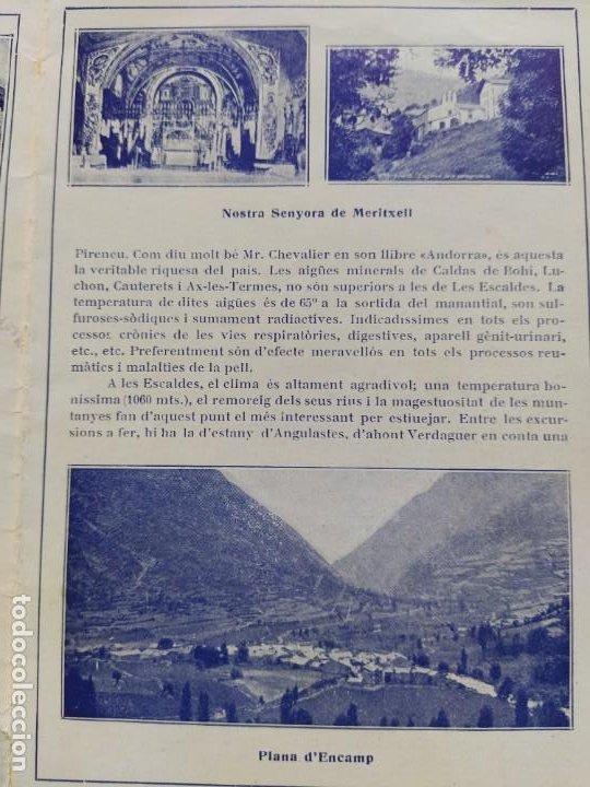 Catálogos publicitarios: ANDORRA-LES ESCALDES-HOTEL TERMAS-AÑO 1931-CATALOGO PUBLICIDAD CON FOTOGRAFIAS-VER FOTOS-(V-19.403) - Foto 9 - 196806328