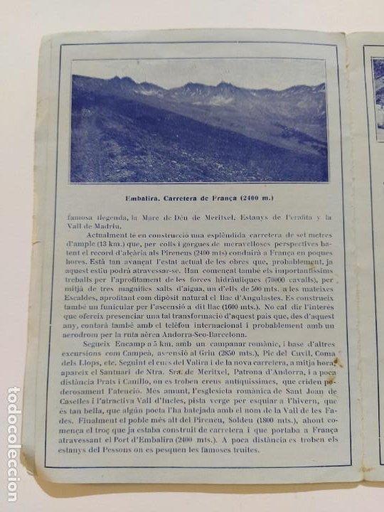 Catálogos publicitarios: ANDORRA-LES ESCALDES-HOTEL TERMAS-AÑO 1931-CATALOGO PUBLICIDAD CON FOTOGRAFIAS-VER FOTOS-(V-19.403) - Foto 10 - 196806328