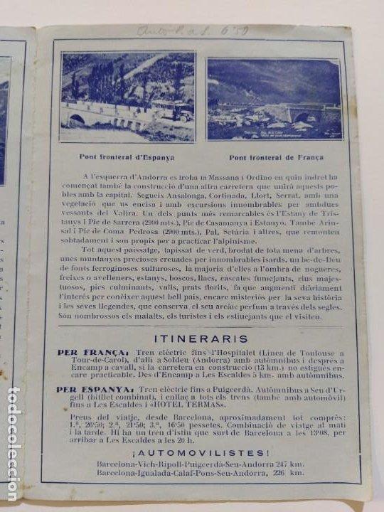 Catálogos publicitarios: ANDORRA-LES ESCALDES-HOTEL TERMAS-AÑO 1931-CATALOGO PUBLICIDAD CON FOTOGRAFIAS-VER FOTOS-(V-19.403) - Foto 11 - 196806328