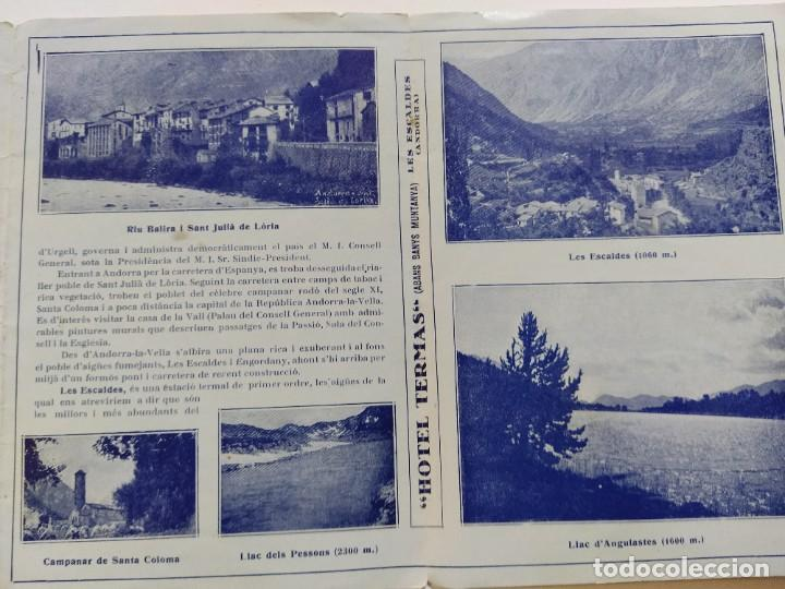 Catálogos publicitarios: ANDORRA-LES ESCALDES-HOTEL TERMAS-AÑO 1931-CATALOGO PUBLICIDAD CON FOTOGRAFIAS-VER FOTOS-(V-19.403) - Foto 13 - 196806328