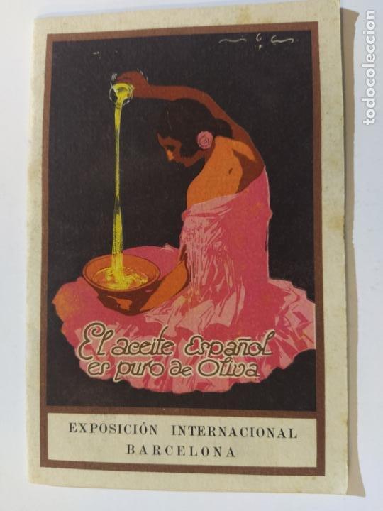 ACEITE DE OLIVA-EXPOSICION INTERNACIONAL BARCELONA-CATALOGO PUBLICIDAD-VER FOTOS-(V-19.410) (Coleccionismo - Catálogos Publicitarios)