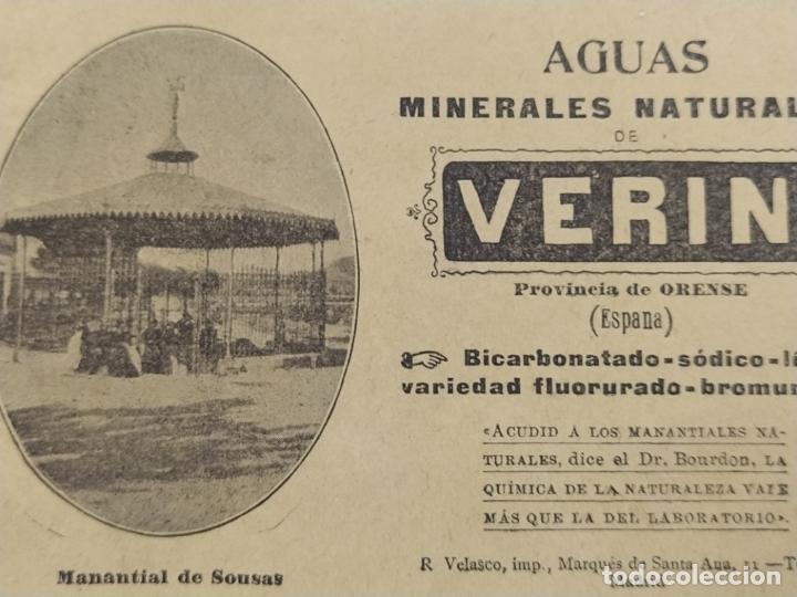 Catálogos publicitarios: AGUAS MINERALES NATURALES DE VERIN-MANANTIAL DE SOUSAS-CATALOGO PUBLICIDAD-VER FOTOS-(V-19.412) - Foto 2 - 196913298