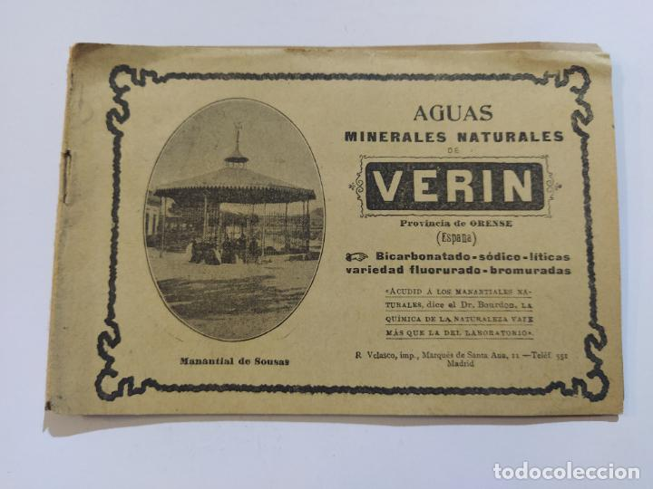 AGUAS MINERALES NATURALES DE VERIN-MANANTIAL DE SOUSAS-CATALOGO PUBLICIDAD-VER FOTOS-(V-19.412) (Coleccionismo - Catálogos Publicitarios)