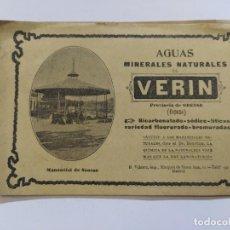 Catálogos publicitarios: AGUAS MINERALES NATURALES DE VERIN-MANANTIAL DE SOUSAS-CATALOGO PUBLICIDAD-VER FOTOS-(V-19.412). Lote 196913298