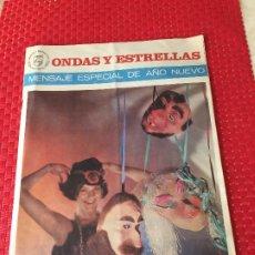 Catálogos publicitarios: ONDAS Y ESTRELLAS - AÑO 1966 - MENSAJE ESPECIAL DE AÑO NUEVO - PHILIPS. Lote 197101971