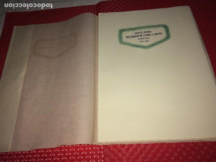 Catálogos publicitarios: OPÚSCULO CENTENARIO DE HILATURAS DE FABRA Y COATS - AÑO 1944 - ESTADO IMPECABLE - Foto 2 - 197142803