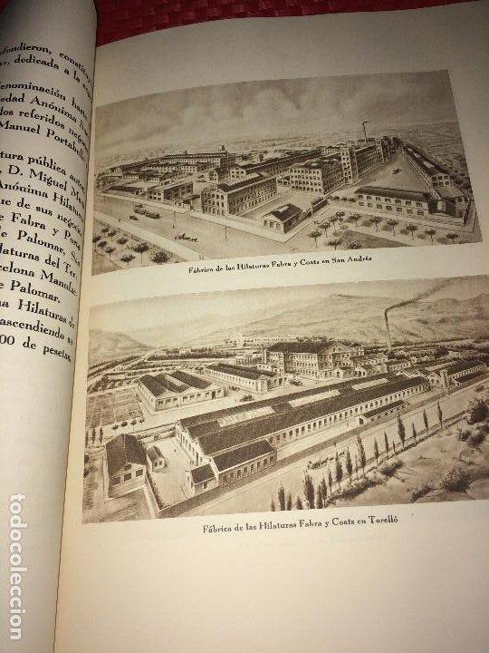 Catálogos publicitarios: OPÚSCULO CENTENARIO DE HILATURAS DE FABRA Y COATS - AÑO 1944 - ESTADO IMPECABLE - Foto 7 - 197142803