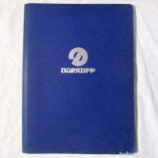 Catálogos publicitarios: 10 FOLLETOS PUBLICITARIOS MÁQUINAS DE COSER DURKOPP, AÑOS 60. Lote 197770103