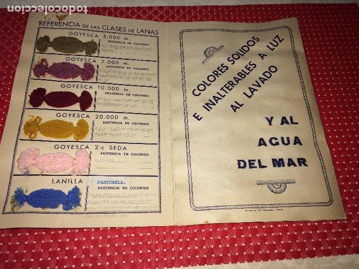 Catálogos publicitarios: ALMACEN DE LANAS MANUEL GOMEZ TORRES - AÑO 1940 - VALENCIA DEL CID - MUESTRARIO - Foto 2 - 197781721