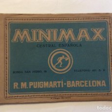 Catálogos publicitarios: CATÁLOGO DE MINIMAX CENTRAL ESPAÑOLA R.M PUIFMARTÍ-BARCELONA. Lote 198031796