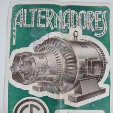 Catálogos publicitarios: CATÁLOGO ALTERNADORES - MARCA ESNAOLA FAGOAGA, PASAJES (GUIPÚZCOA). Lote 198034342
