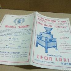 Catalogues publicitaires: FOLLETO MOLINOS DERIZ EN BURGOS. Lote 198773930
