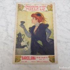 Catálogos publicitarios: CATÁLOGO DE ORFEBRERÍA PLATEADA MIELE & CO. AÑO 1910. Lote 198841781