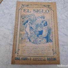 Catálogos publicitarios: CATÁLOGO DE GRANDES ALMACENES EL SIGLO ESPECIAL GENEROS BLANCOS. Lote 198843266