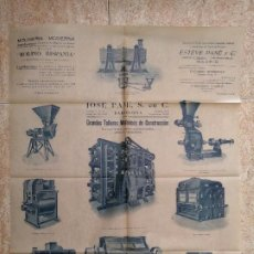 Catálogos publicitarios: JOSÉ PANE. TALLERES DE CONSTRUCCIÓN. MOLINERIA, BARCELONA. 57CM X 44CM. MOLINO.. Lote 198855292