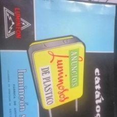 Catálogos publicitarios: CATAOGO DE LUMINOSOS LUMINEON SEVILLA. Lote 199072157