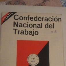 Catalogues publicitaires: ANTIGUO FOLLETO POLITICO.CNT AIT. CONFEDERACION NACIONAL TRABAJO.TEXTIL BARCELONA 1979. Lote 199350858