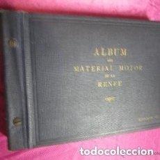 Catálogos publicitarios: ALBUM LOCOMOTORAS MAQUINAS DE VAPOR DE FERROCARRIL MOTOR DE RENFE 1947 .. Lote 200073732