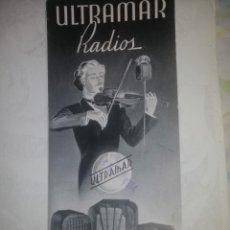 Catálogos publicitarios: PUBLICIDAD RADIOS ULTRAMAR. Lote 200128246