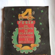 Catálogos publicitarios: CATÁLOGO FERIA DEL AUTOMÓVIL, PUENTECESURES, AÑO 1954. PONTEVEDRA, GALICIA.. Lote 200320072