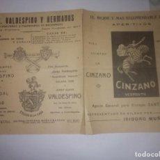 Catálogos publicitarios: PUBLICIDAD ANTIGUA CINZANO. Lote 200385001