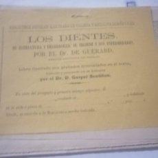 Catálogos publicitarios: LIBRETO DE MEDICINA Y HIGIENE DOMESTICA DIENTES. Lote 200559046