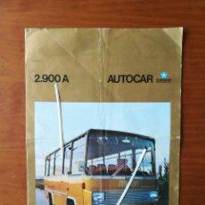Catálogos publicitarios: CATÁLOGO PUBLICIDAD AUTOCAR BUS CHRYSLER 2900 A. Lote 201300497