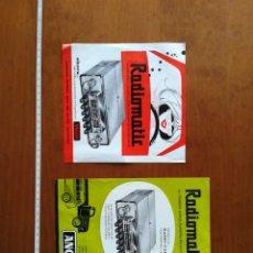 Catálogos publicitarios: HOJAS PUBLICIDAD CARACTERÍSTICAS RADIOMATIC ANGLO RADIO COCHE. Lote 201957095