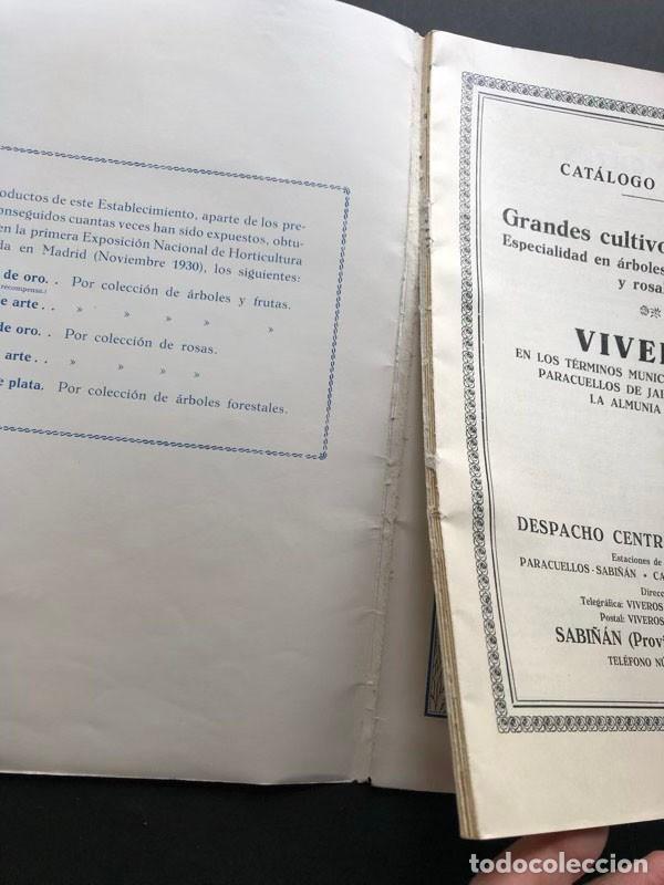 Catálogos publicitarios: CATALOGO GENERAL / VIVEROS MANUEL SANJUAN / AÑOS 30 / SABIÑAN ( ZARAGOZA ) 80 PAGINAS ILUSTRADAS - Foto 8 - 202005783