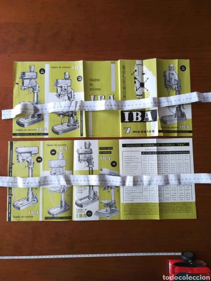 PUBLICIDAD 1963 VITORIA TALADROS COLUMNA IBA (Coleccionismo - Catálogos Publicitarios)