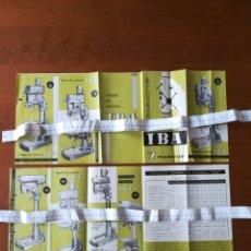 Catálogos publicitarios: PUBLICIDAD 1963 VITORIA TALADROS COLUMNA IBA. Lote 202078577