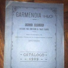 Catálogos publicitarios: SANTANDER 1909. GARMENDIA, SASTRERÍA ECLESIASTICA, CATÁLOGO 1909. Lote 202637978