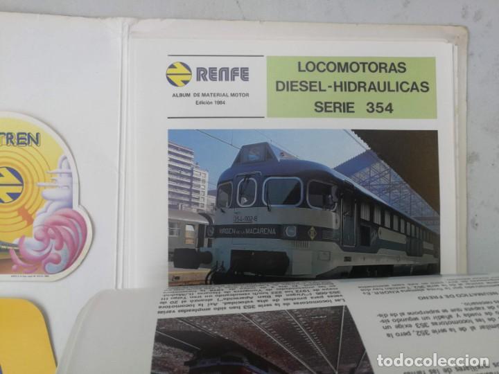 Catálogos publicitarios: FICHAS A COLOR Y DOS PEGATINAS MI TREN - RENFE MATERIAL MOTOR REMOLCADO - AÑO 1984 - FICHAS CON CANT - Foto 3 - 203529852