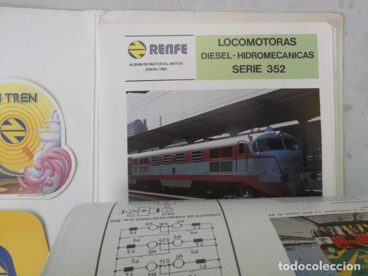 Catálogos publicitarios: FICHAS A COLOR Y DOS PEGATINAS MI TREN - RENFE MATERIAL MOTOR REMOLCADO - AÑO 1984 - FICHAS CON CANT - Foto 4 - 203529852