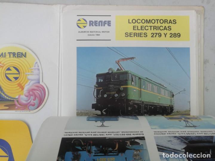 Catálogos publicitarios: FICHAS A COLOR Y DOS PEGATINAS MI TREN - RENFE MATERIAL MOTOR REMOLCADO - AÑO 1984 - FICHAS CON CANT - Foto 5 - 203529852