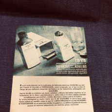 Catálogos publicitarios: IBYS LABORATORIOS PUBLICIDAD FARMACIA FOSFOALUGEL ANTIACIDO ALUGEL IBIS APARATO DIGESTIVO 21X15,5CMS. Lote 203866268