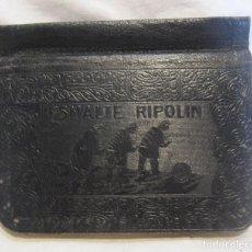 Catálogos publicitarios: AGENDA 1915 PUBLICIDAD ESMALTE RIPOLIN Y PINTURA COLAMINA. CUBIERTA DE PIEL GRABADA. 9 X 10,5 CM. Lote 203930896
