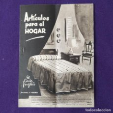 Catálogos publicitarios: CATALOGO PUBLICITARIO DE EL CORTE INGLES. ARTICULOS PARA EL HOGAR. PRECIADOS, 3 - MADRID. AÑO 1957.. Lote 204002622