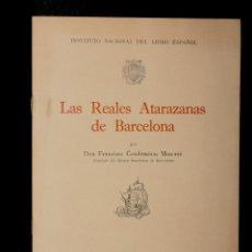 Catálogos publicitarios: CATALOGO REALES ATARAZANAS DE BARCELONA - EXPOSICION NACIONAL DEL LIBRO DEL MAR - AÑO 1943. Lote 204393150