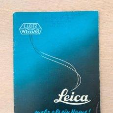 Catálogos publicitarios: FOLLETO DE CÁMARA FOTOGRÁFICA LEICA, 1950. Lote 204647672