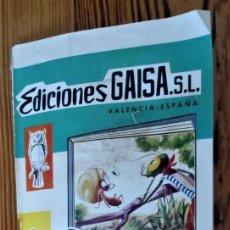 Catálogos publicitarios: FOLLETO EDICIONES GAISA 1961 VALENCIA CUENTOS 8 HOJAS DOBLES RARO CATÁLOGO INFANTIL PUBLICACIONES. Lote 205128001