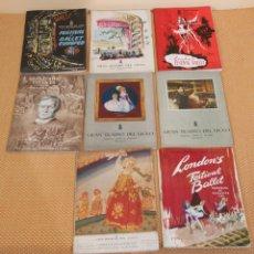 Catálogos publicitarios: INTERESANTE LOTE DE 8 PROGRAMAS DEL LICEO (BCN), DIVERSOS AÑOS. Lote 205188123
