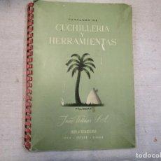 Catálogos publicitarios: IRUN - CATALOGO PRODUCTOS MARCA ' PALMERA ' JUAN WOLLMER, APROX 1950 + INFO Y FOTOS. Lote 205329102