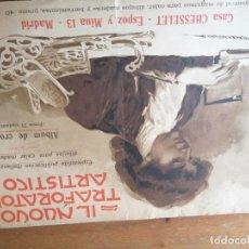 Catálogos publicitarios: IL NUOVO TRAFORATORE ARTÍSTICO. DIBUJOS CALAR MADERA. ÁLBUM CROQUIS. Lote 205763601