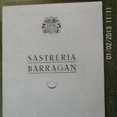 Catálogos publicitarios: ANTIGUA PUBLICIDAD SASTRERIA BARRAGAN - MADRID. Lote 205822976
