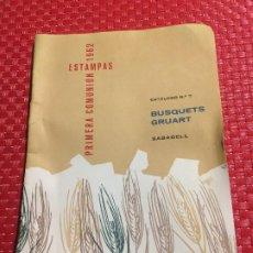 Catálogos publicitarios: BUSQUETS GRUART - SABADELL - CATALOGO ESTAMPAS PRIMERA COMUNION - AÑO 1962. Lote 206402032