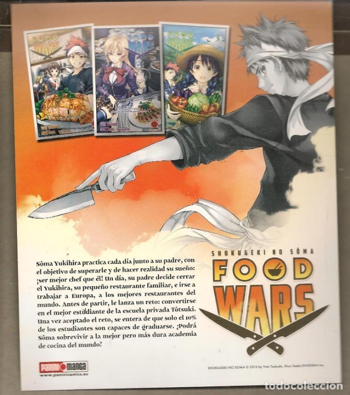 Catálogos publicitarios: TARJETA PUBLICIDAD: FOOD WARS. TAMAÑO: 22 X 18 CTM. APROX. PININI. (C/A24) - Foto 2 - 206763138