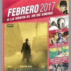 Catálogos publicitarios: CATÁLOGO: NOVEDADES NORMA EDITORIAL. FEBRERO 2017. (P/C52). Lote 206916015