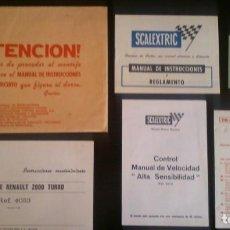Catálogos publicitarios: SCALEXTRIC LOTE DE DOCUMENTOS. Lote 207065015