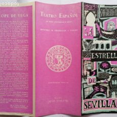 Catálogos publicitarios: BOCETO TEATRO ESPAÑOL, TEMPORADA 1956-57 - LA ESTRELLA DE SEVILLA DE LOPE DE VEGA. Lote 207094195